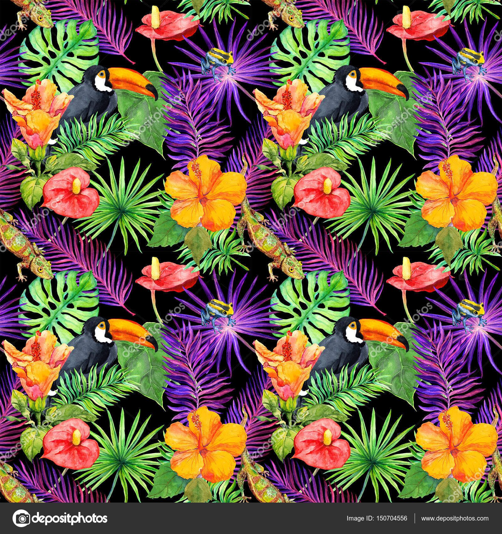 wallpaper tropical birds and foliage - photo #16