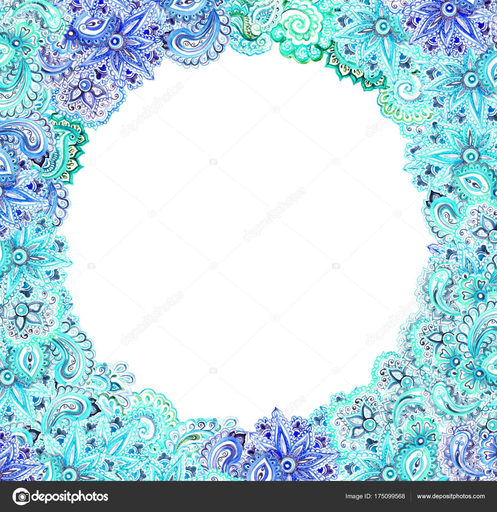 Tarjeta de mar ornamentales - diseño ornamental vintage. Marco de ...