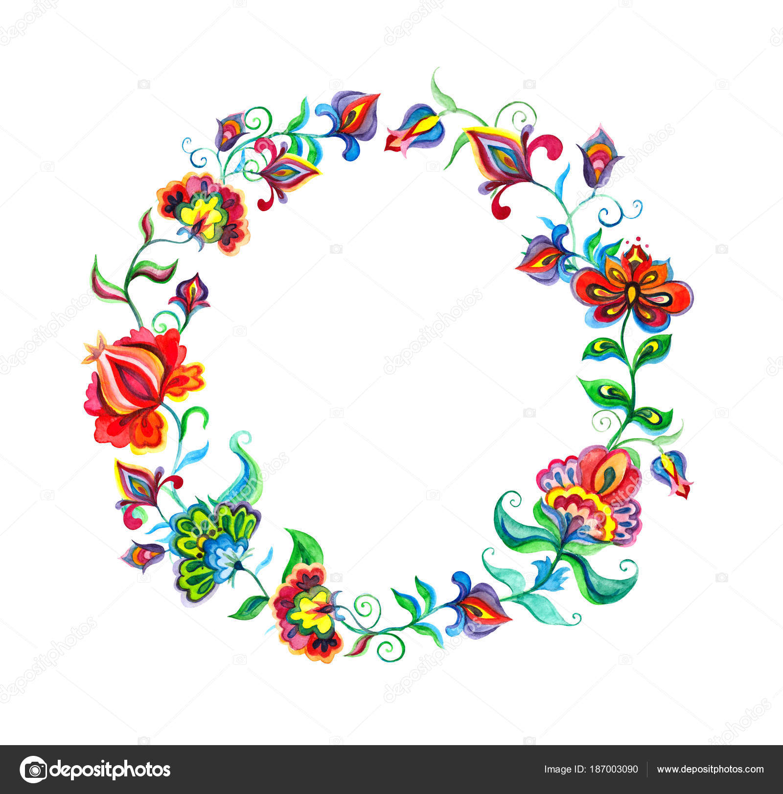 Kwiaty Dekoracyjne Sztuki Ludowej Kwiatowy Wianek W