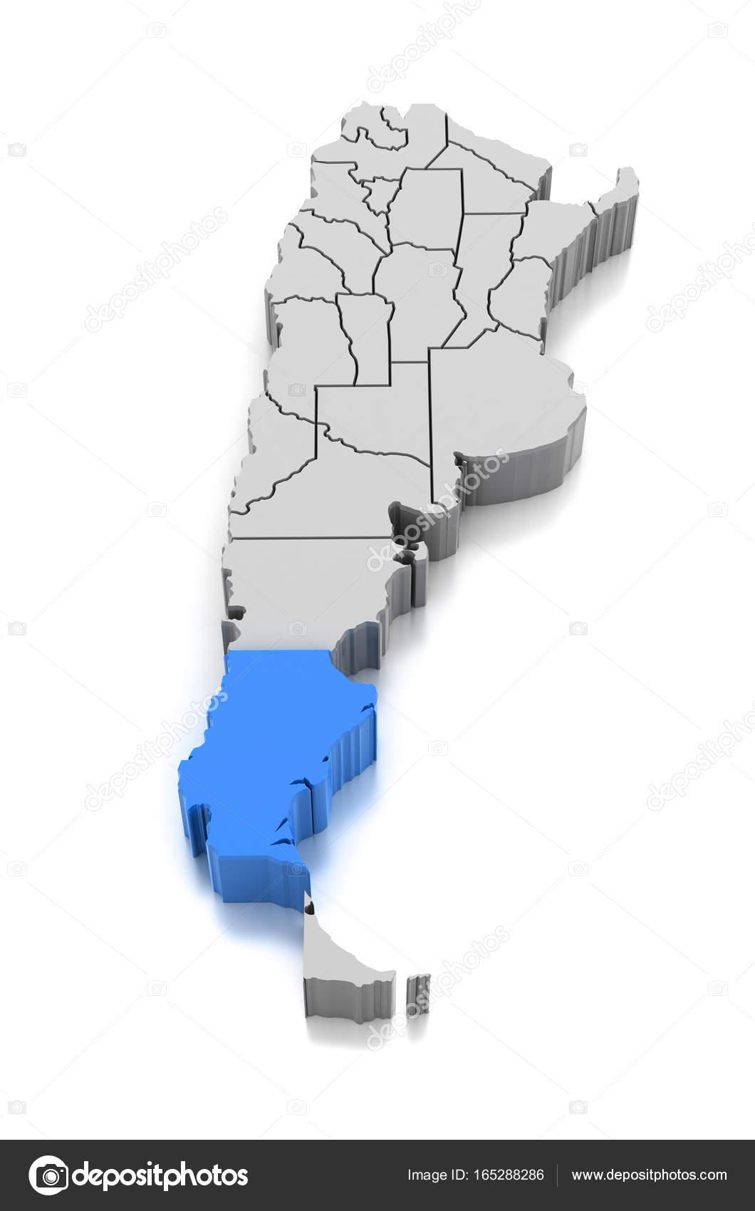 Map Of Santa Cruz Province Argentina Stock Photo C Md3d 165288286