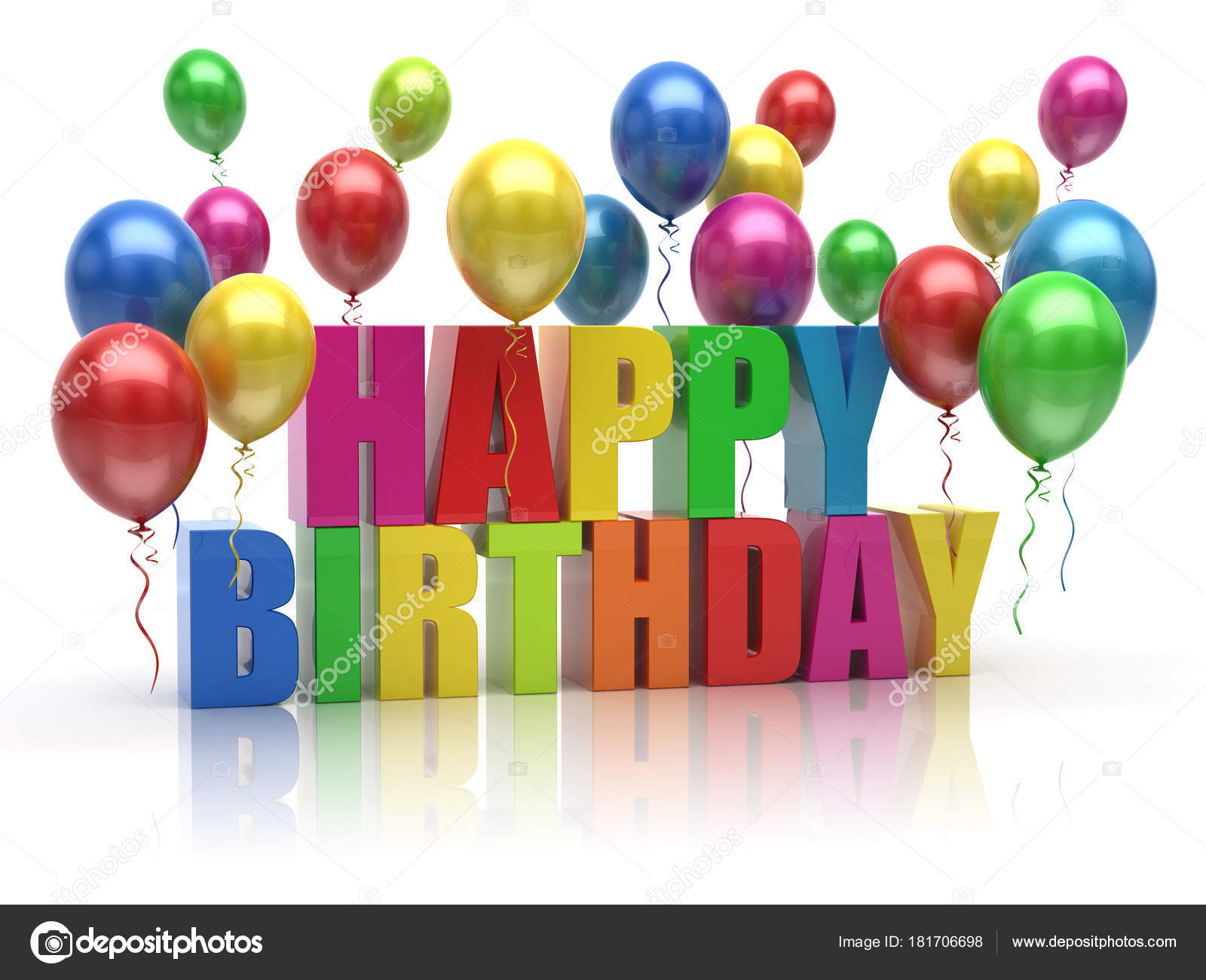 Happy Birthday balloons — Stock © md3d