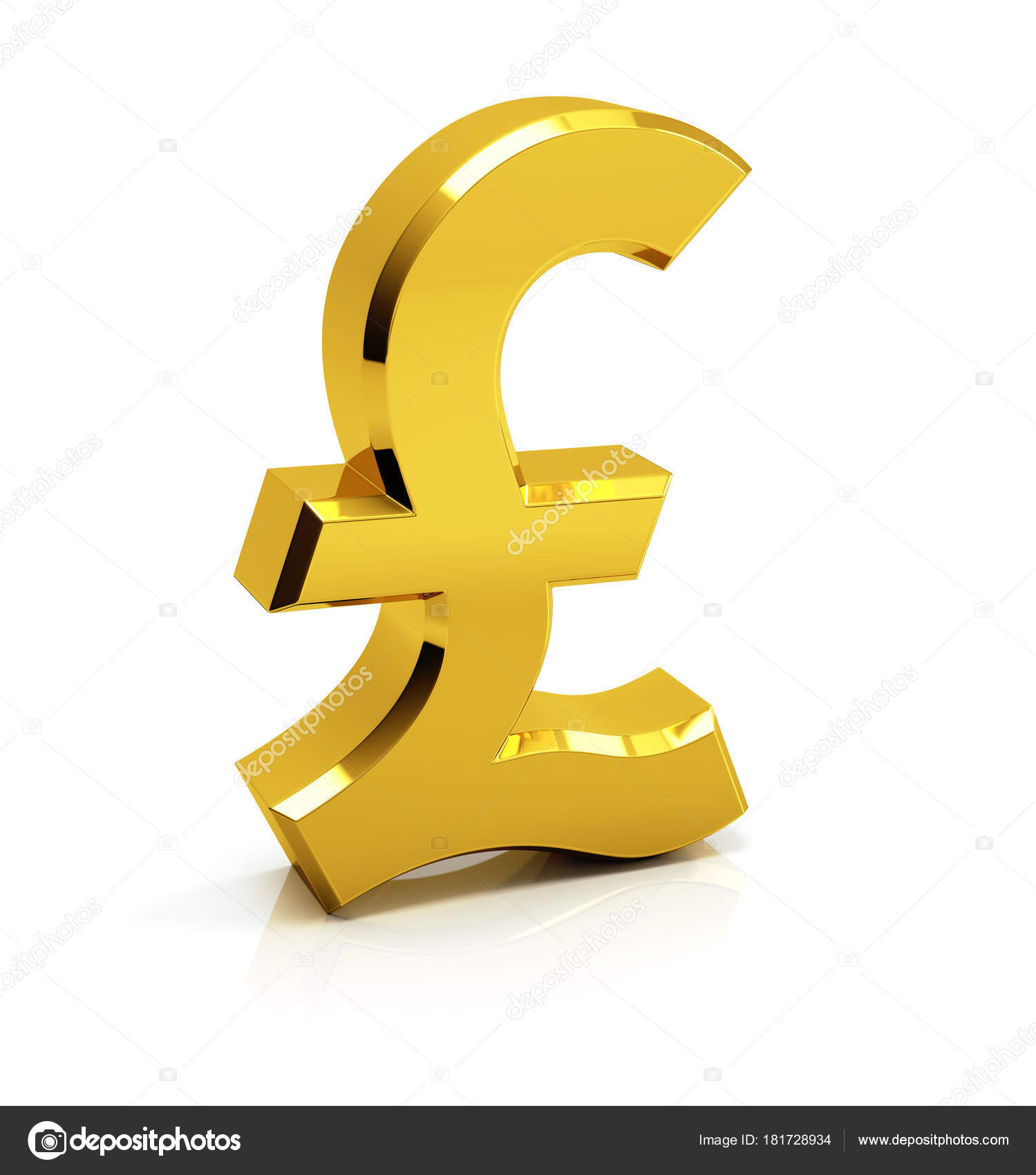 British Pound Sign Symbol Md3d 181728934