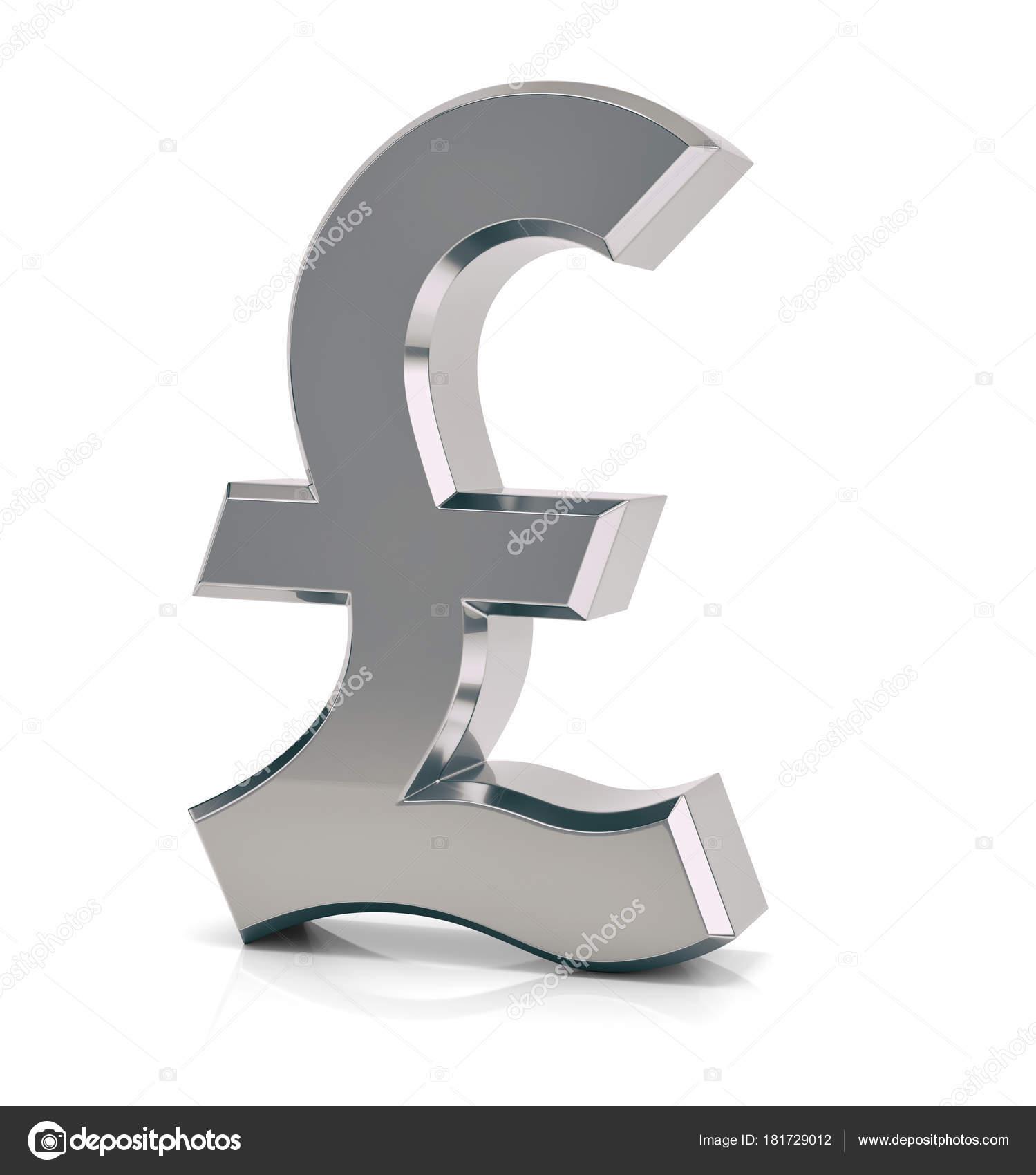 British Pound Sign Symbol Stock Photo Md3d 181729012