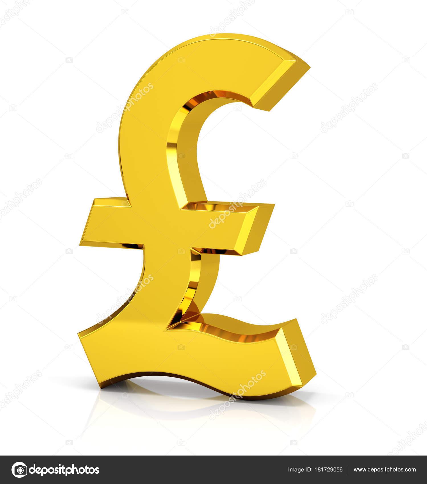 British Pound Sign Symbol Stock Photo Md3d 181729056