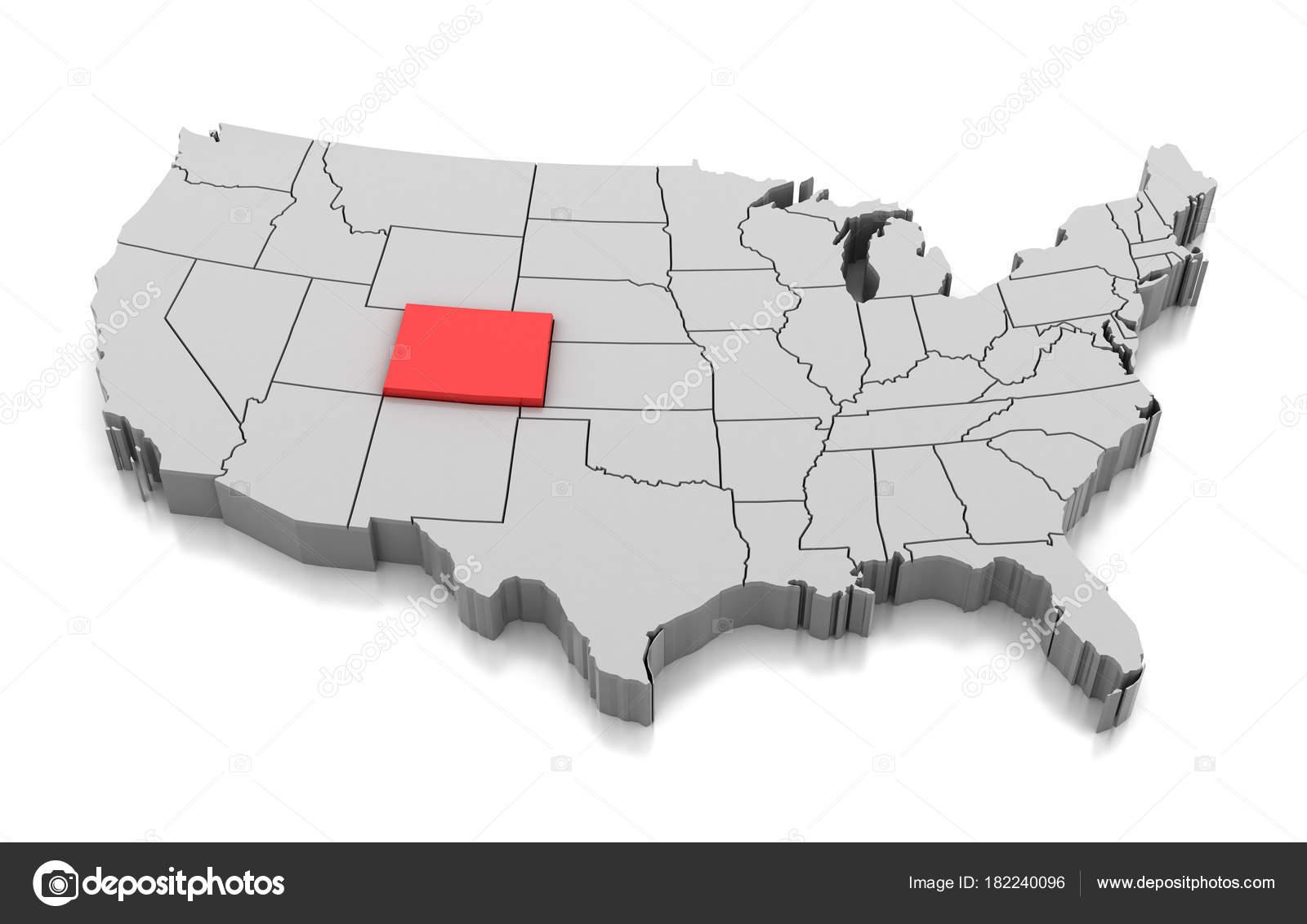 Colorado Karte.Karte Von Colorado State Usa Stockfoto Md3d 182240096