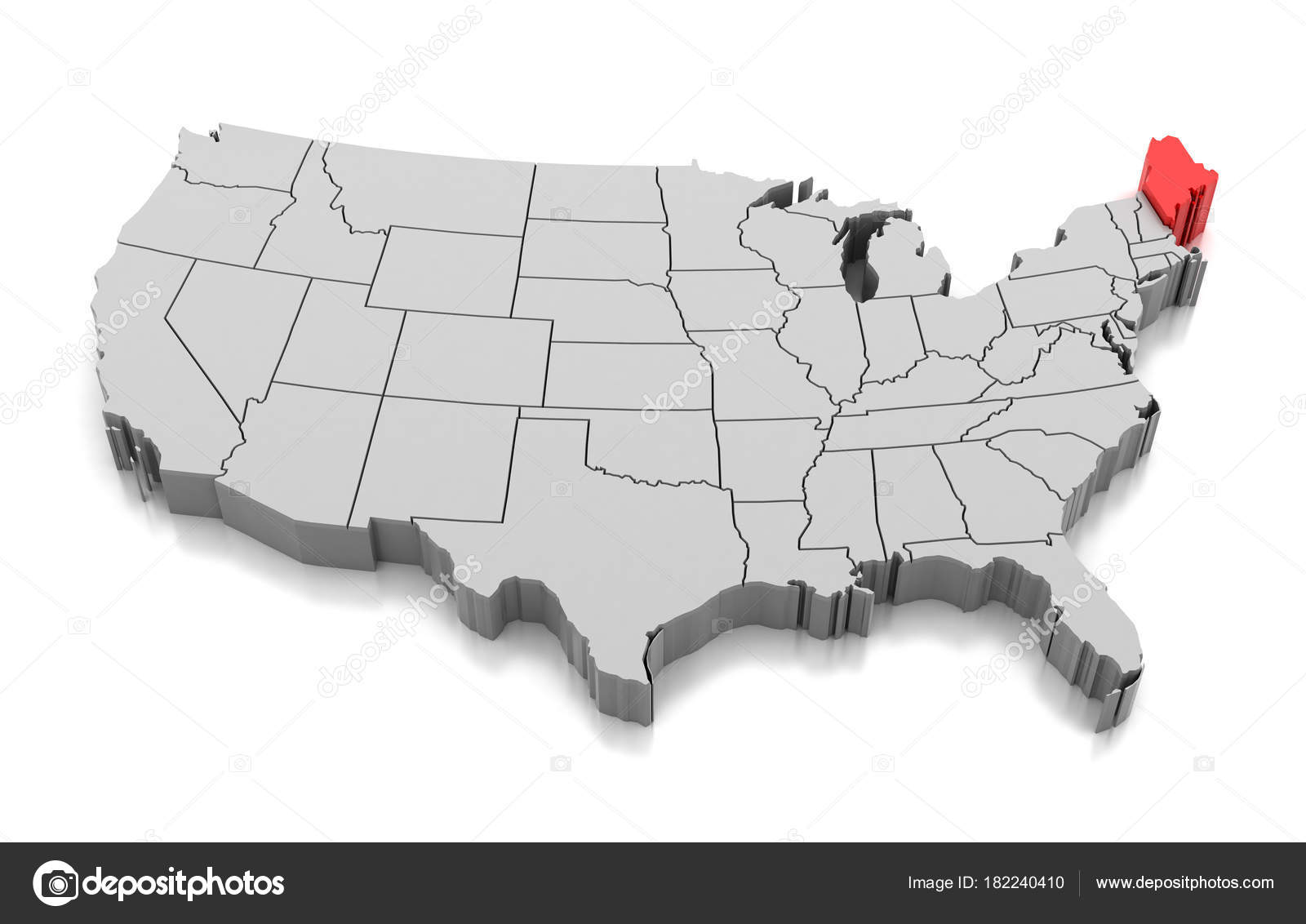 Maine state picture | Map of Maine state, USA — Stock Photo ...