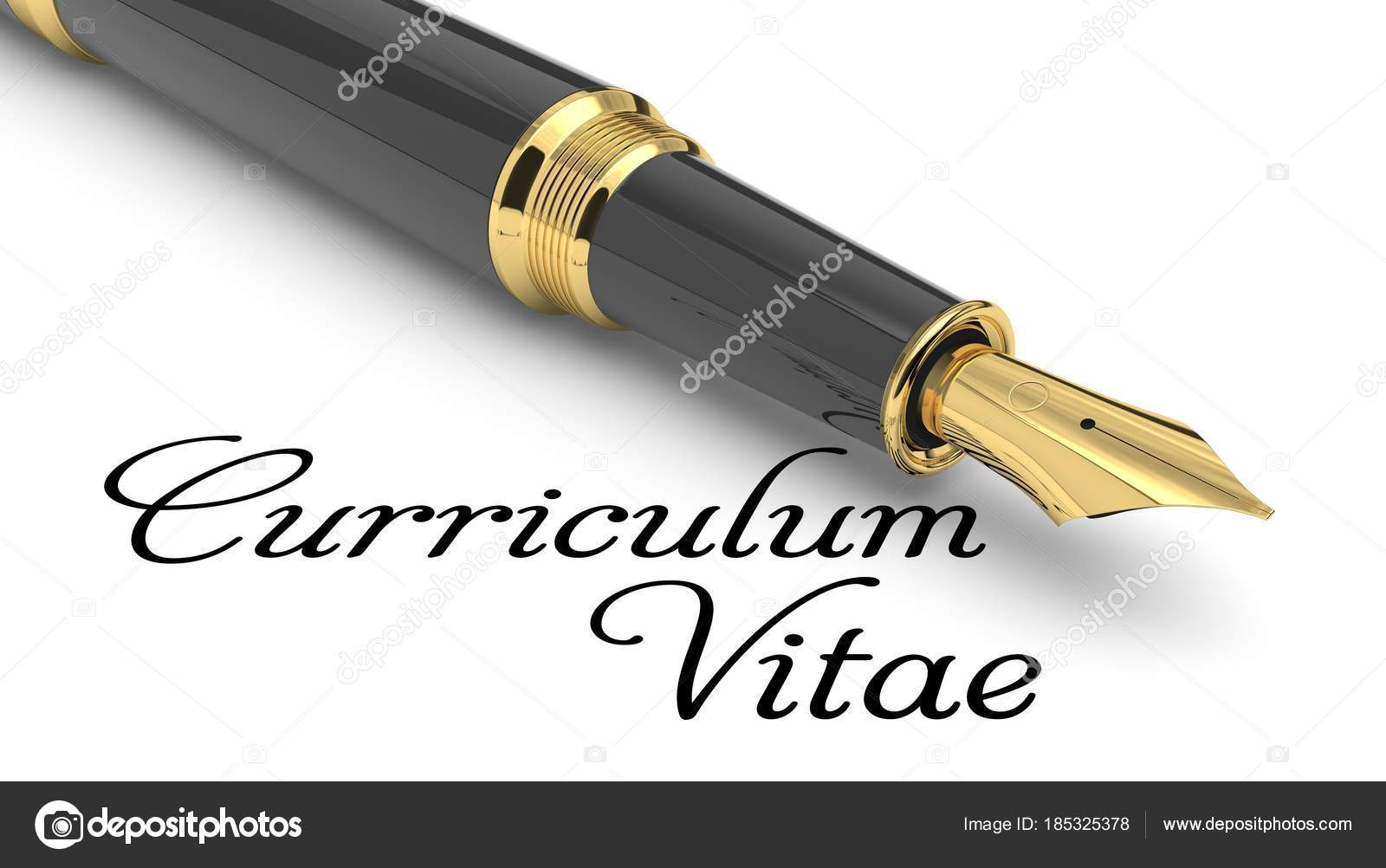 Curriculum Vitae word manuscrito con pluma — Foto de stock © md3d ...