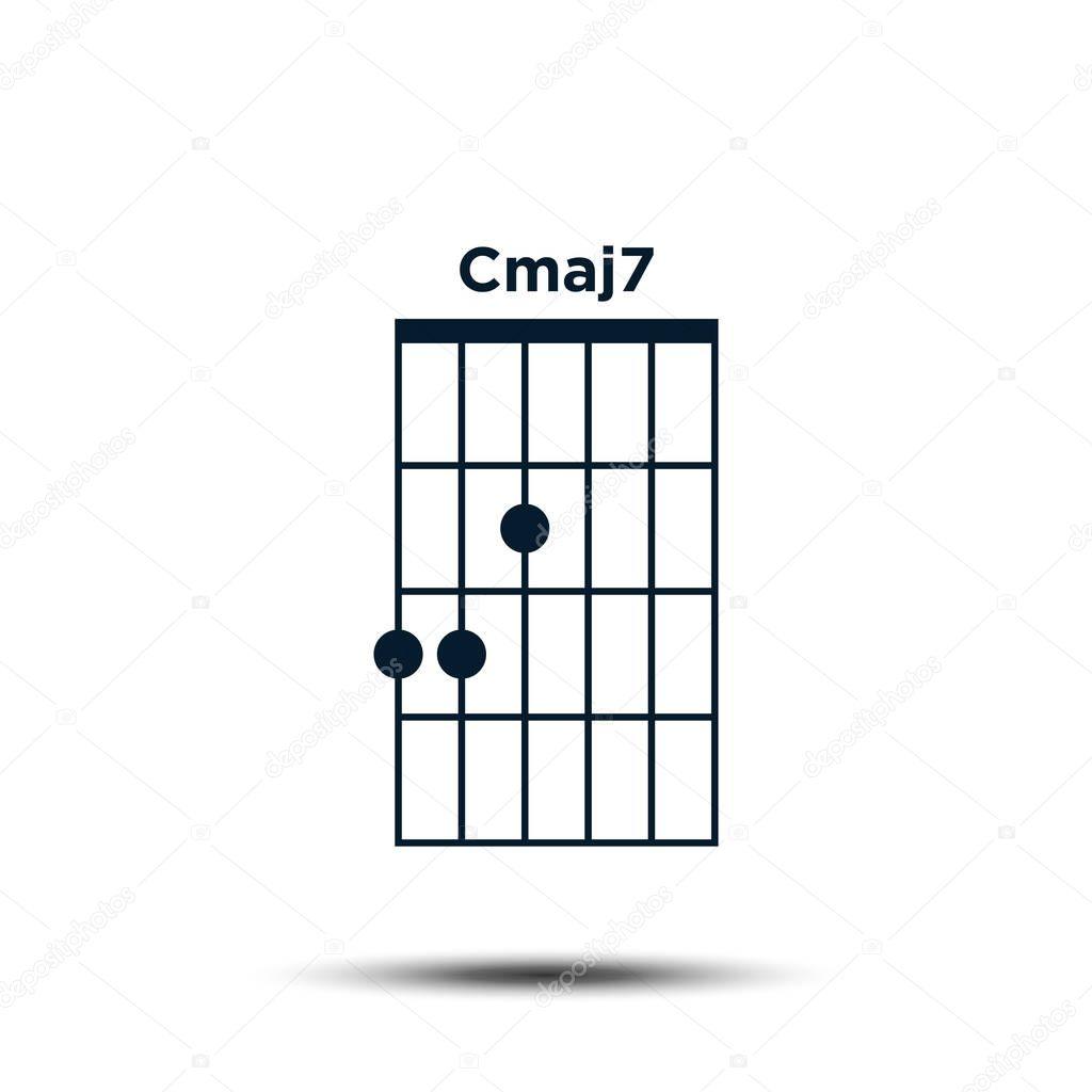 ✓ Cmaj15, Basic Guitar Chord Chart Icon Vector Template premium ...