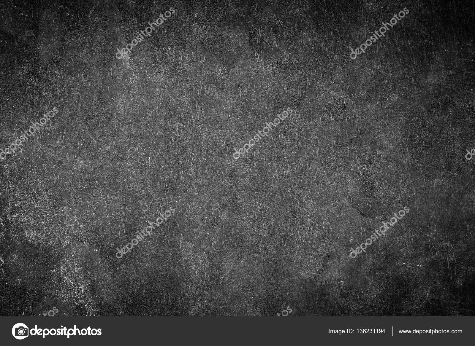 Blank Front Real Black Chalkboard Background Texture College
