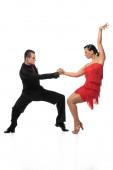 Fényképek graceful, elegant dancers performing tango on white background