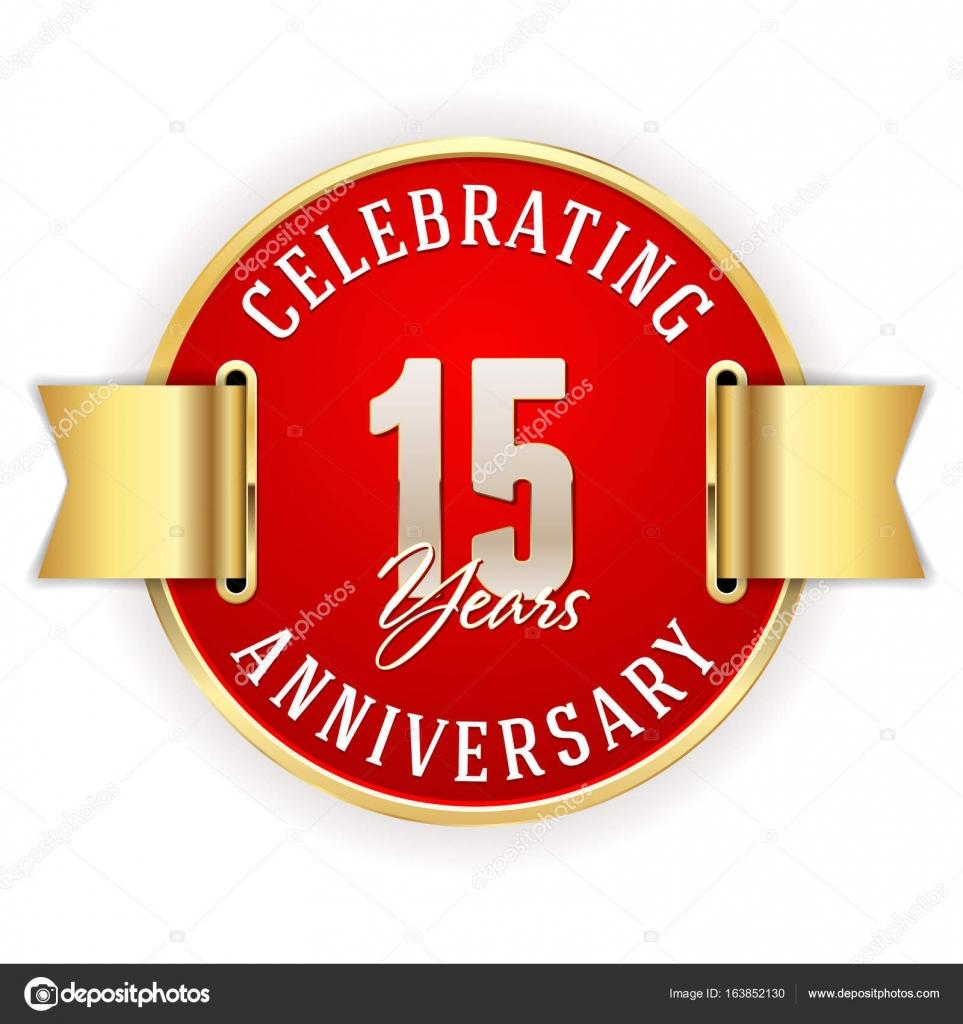 Celebrating 15 Years Anniversary Stock Vector Newartgraphics