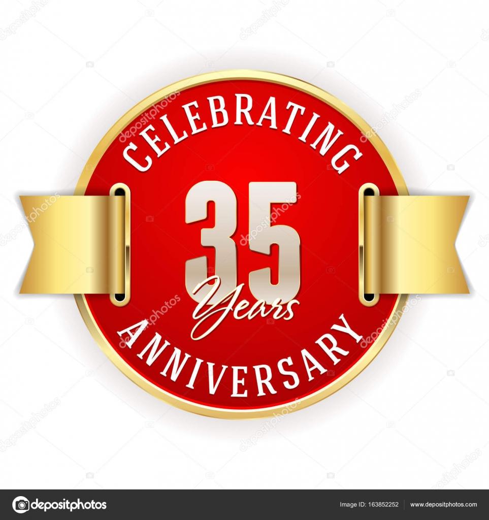 Celebrating 35 Years Anniversary Stock Vector Newartgraphics
