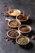Photo Variety of coffee beans