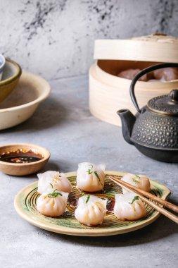 Asian steam dumplings