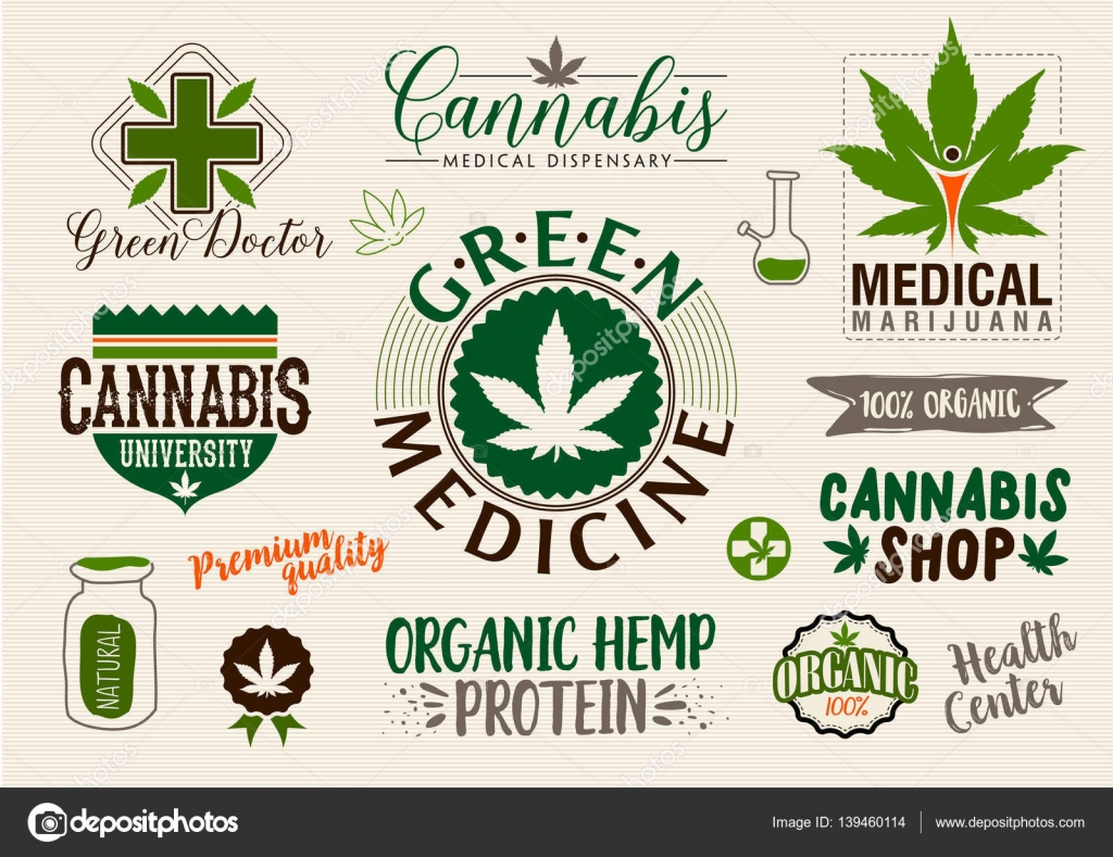 Medical marijuana product label and logo graphic template – Product Label Template