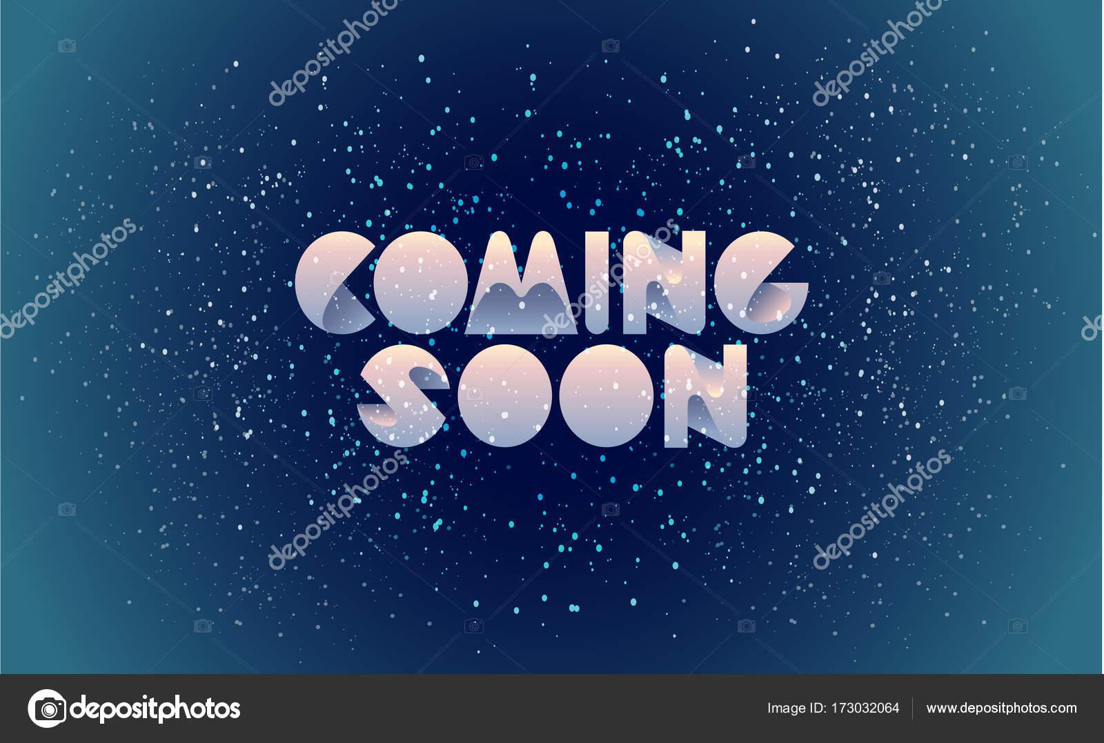 Viene pronto banner, plantilla de página web, marco, placa, tablero ...