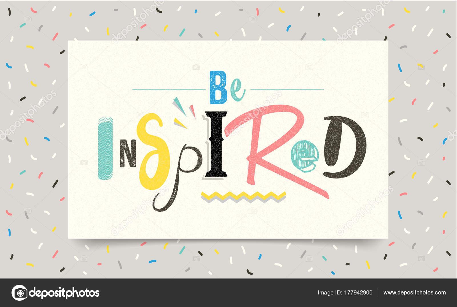 être Inspiré Citation Source Inspiration Positive Vecteur