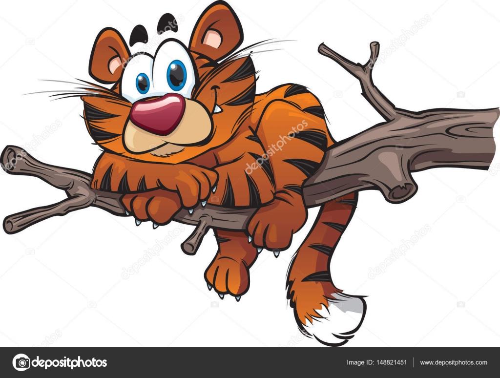 Tigre cartone animato carino u vettoriali stock scribbles toons