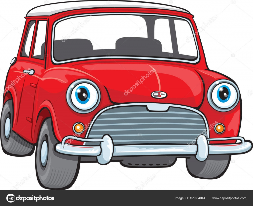 Petite Voiture Rouge Image Vectorielle Scribbles Toons