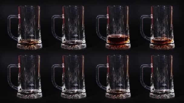Pivo se nalije do stop motion do sklenic