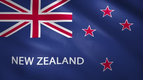 New Zeland flag moves slightly in the wind