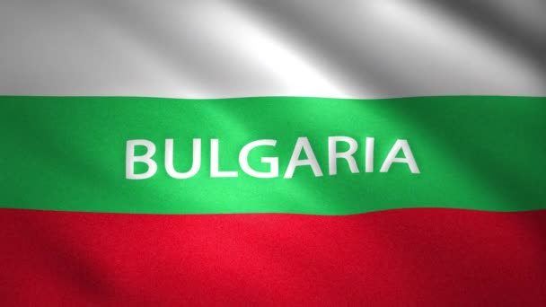 Bulgaria Flag with the name of the country