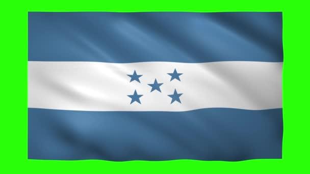 Térkép Honduras on green screen for chroma key