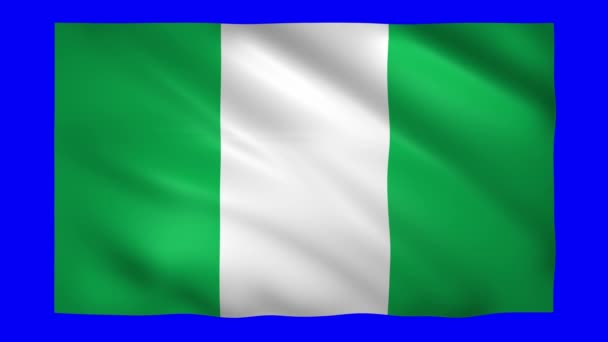 Nigeria flag on green screen for chroma key