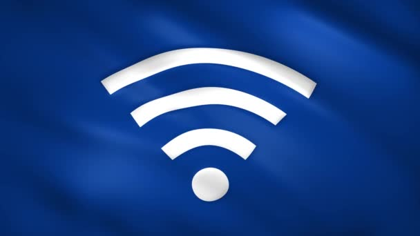 WLAN-Symbol auf blauer Flagge