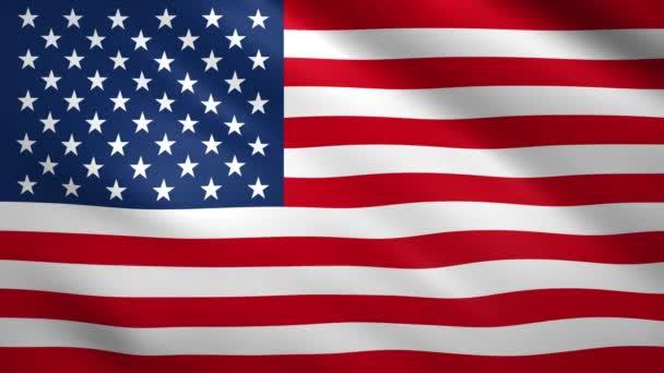 Egyesült Államok zászló integet a szélben