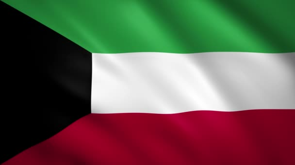 Kuwait flag waving in the wind