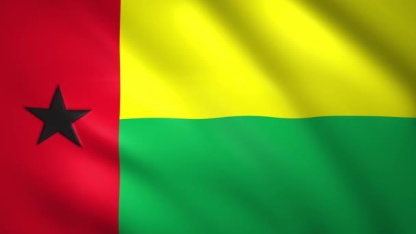 Bissau-Guinea zászló lengett a szélben