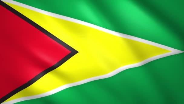 Flag of Guyana waving in the wind