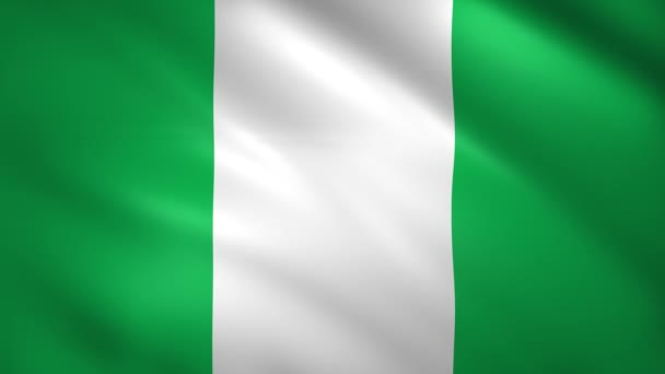 Nigeria flag moves slightly in the wind