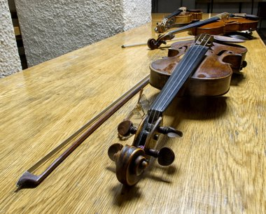 musical instruments in an orchestra.