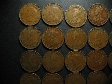 One Half Penny Vintage Australian Coin. Obverse.