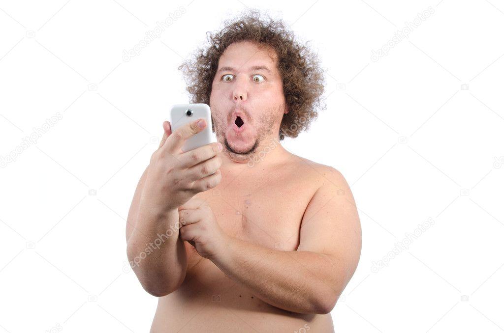 fetter nackter mann