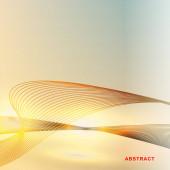 abstraktní vektorové pozadí. liniové vlny se světlem. Vektor Illu