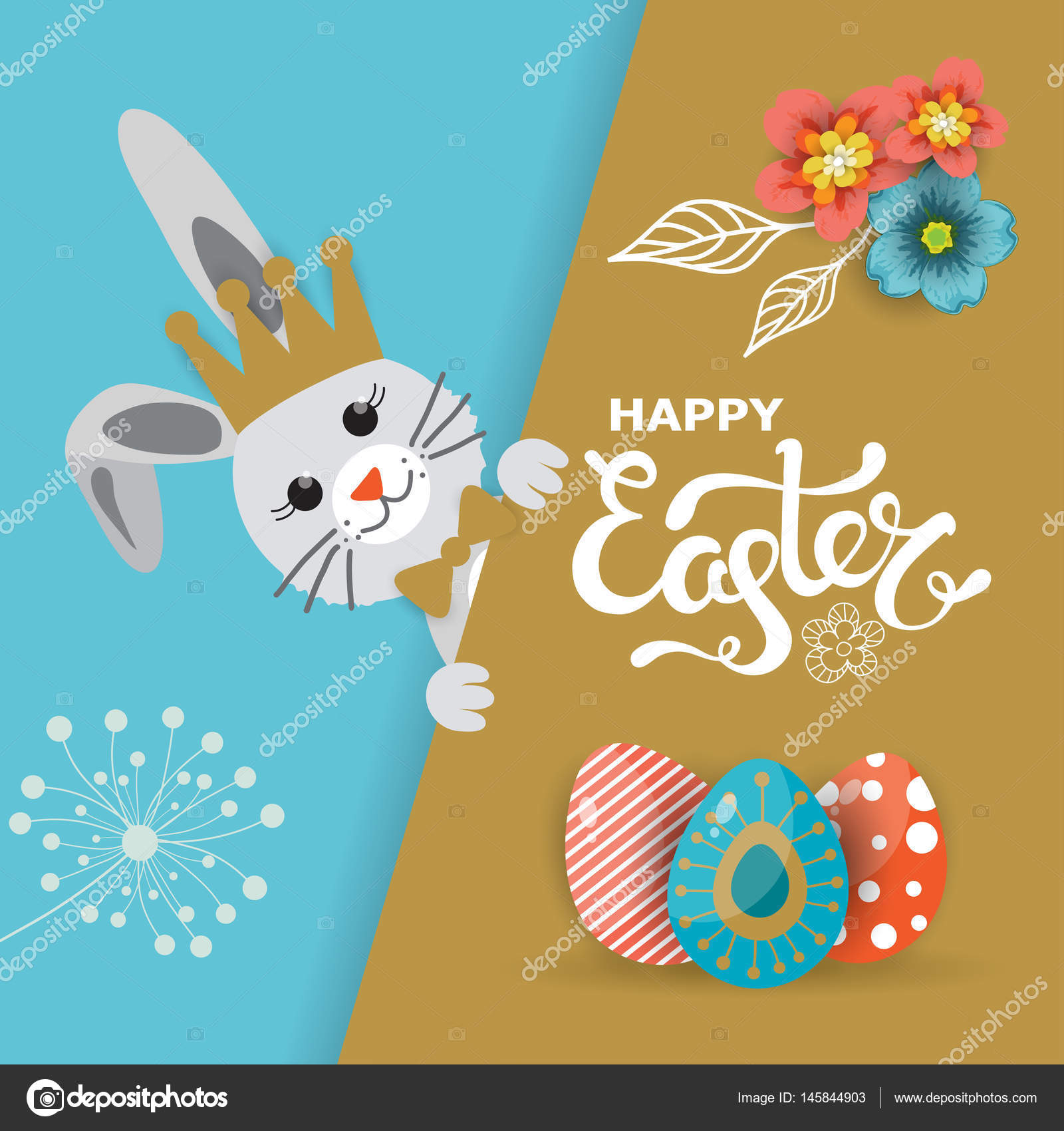 Easter day greeting card poster vector illustration stock vector easter day greeting card poster vector illustration stock vector m4hsunfo