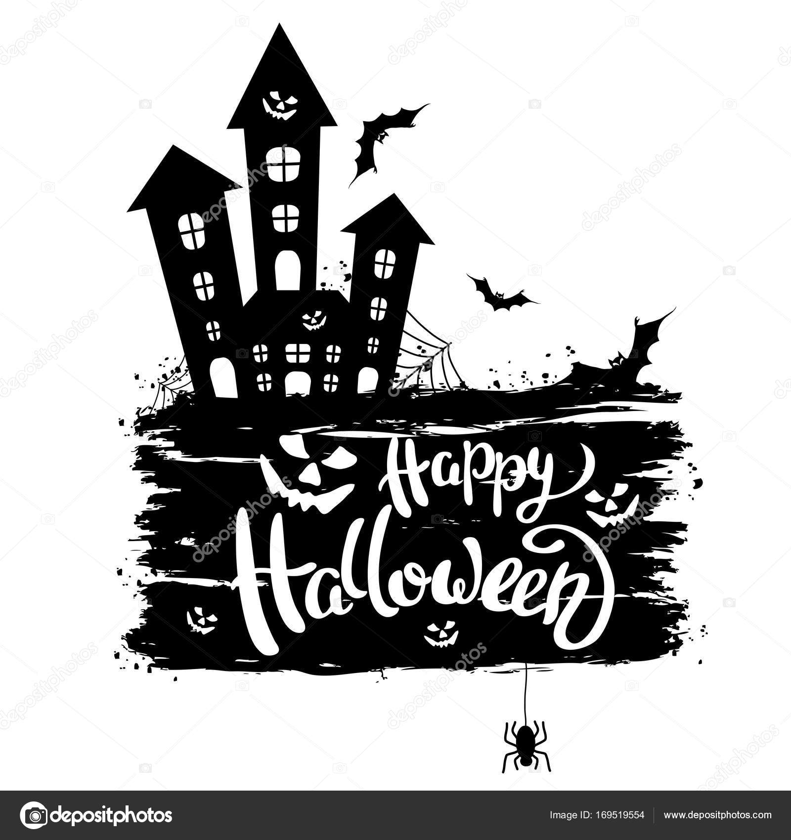 happy halloween template for banner or poster vector illustrati stock vector