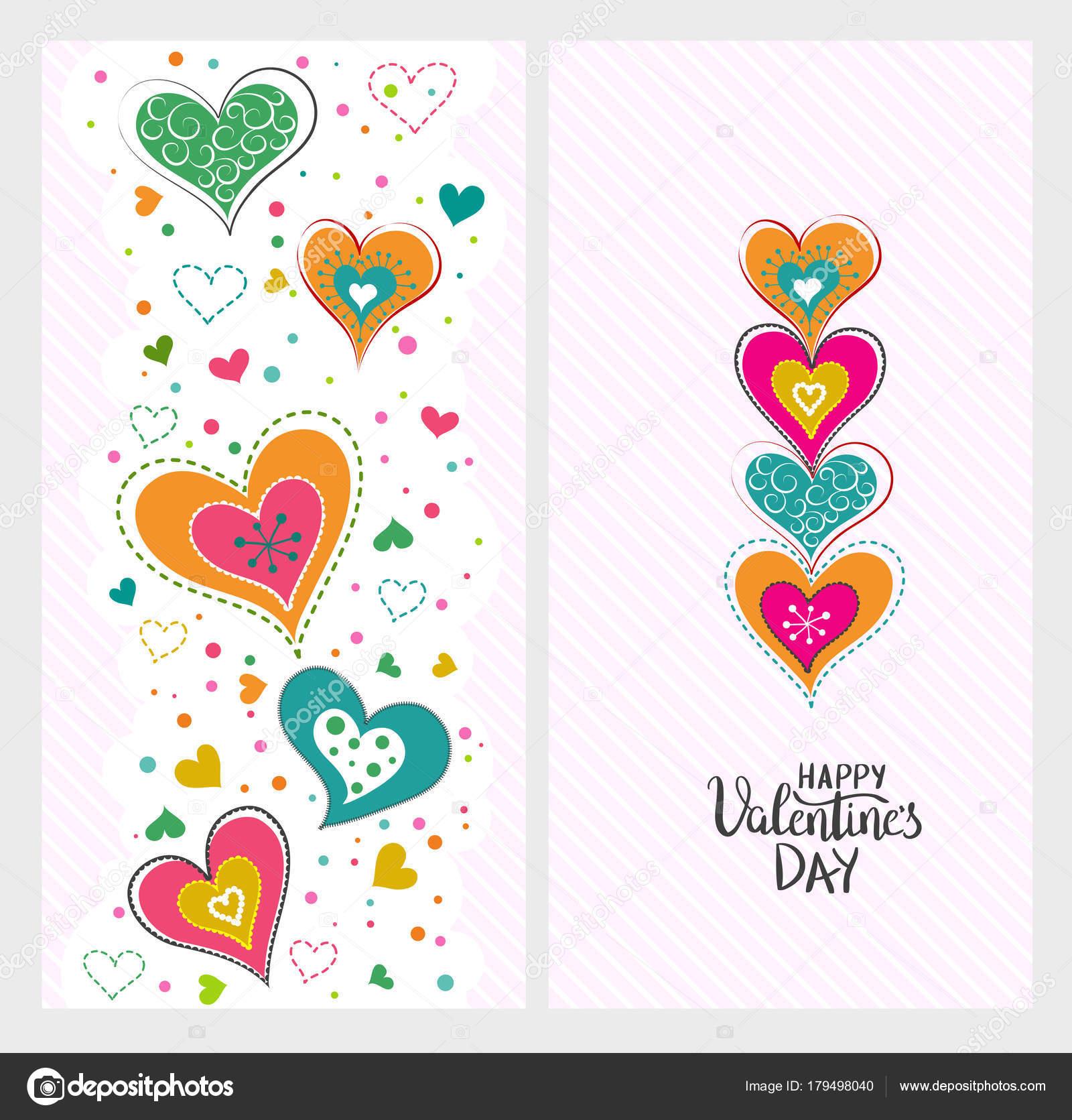 Happy Valentines Day Vorlage für Poster oder Banner. Urlaub lett ...