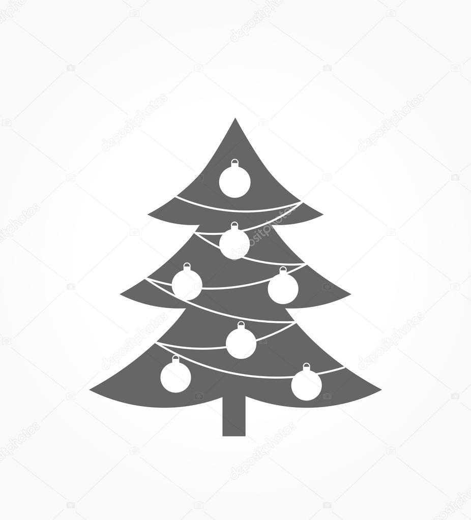 Symbol Weihnachtsbaum.Weihnachtsbaum Symbol Stockvektor Studiobarcelona 130497642