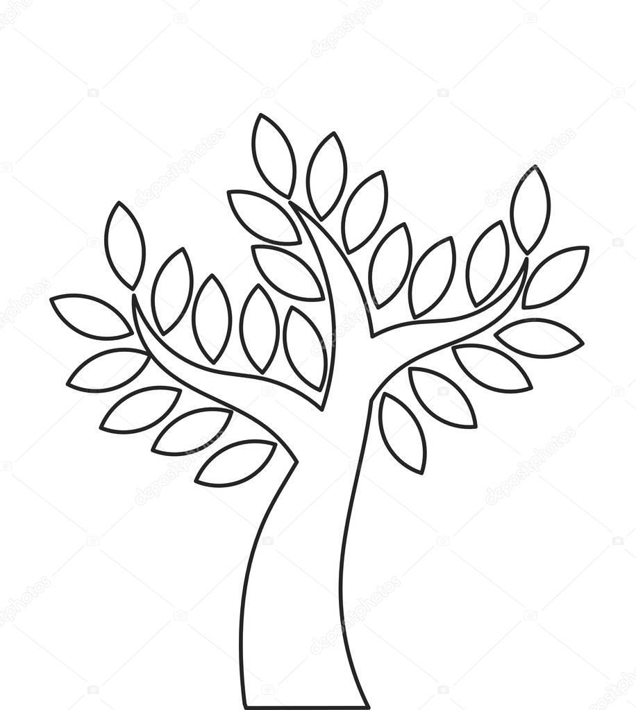 Tree outline shape Stock Vector Studiobarcelona 130498336