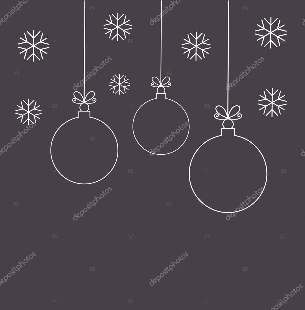 Christmas balls linear ornaments