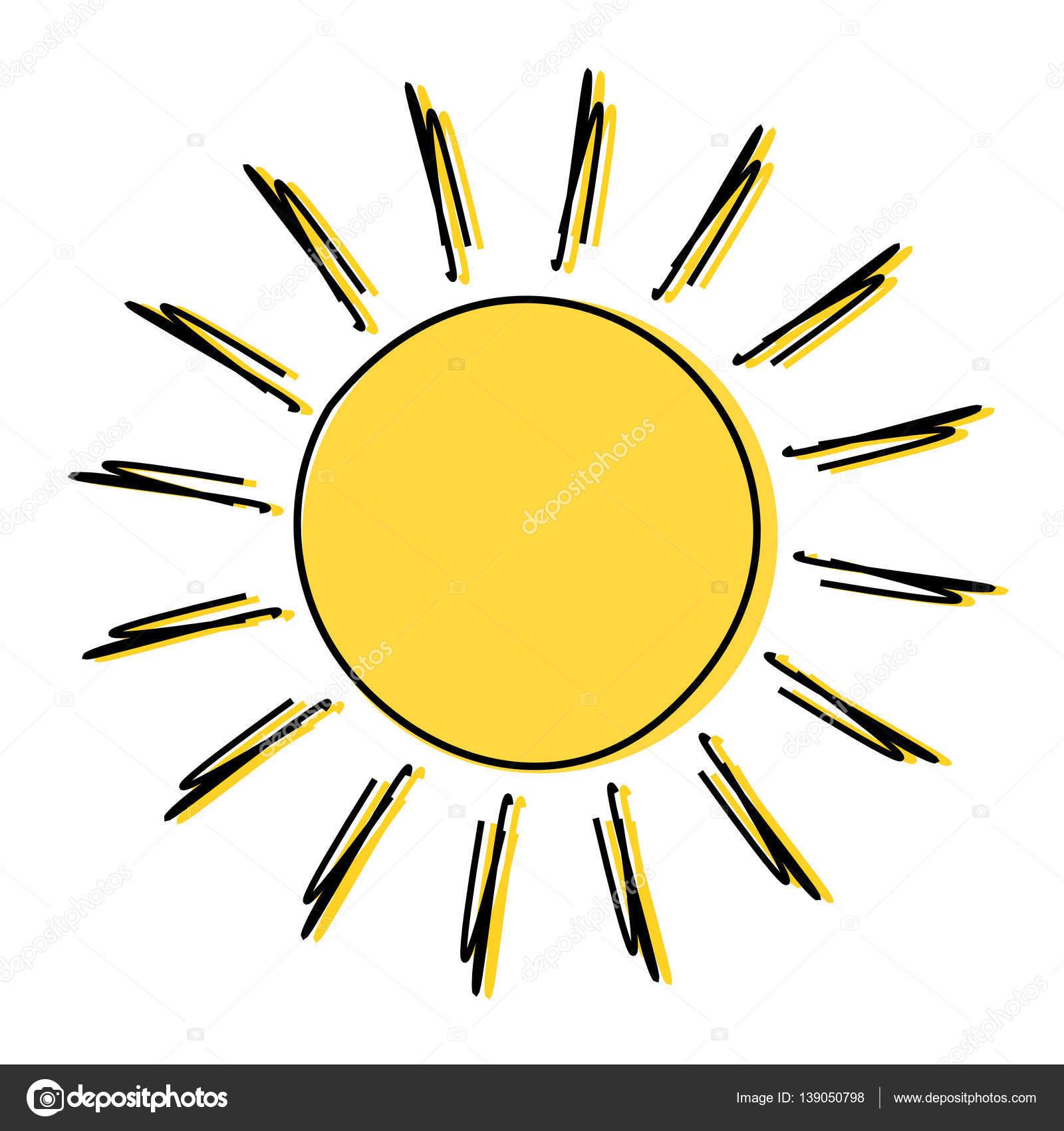 doodle dibujo sol archivo imágenes vectoriales studiobarcelona