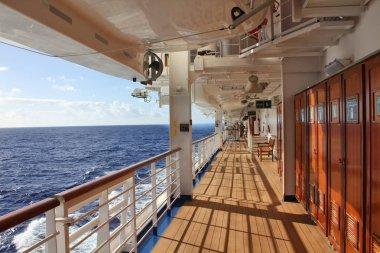 Cruise ship open deck
