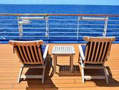 Piattaforma aperta di nave da crociera