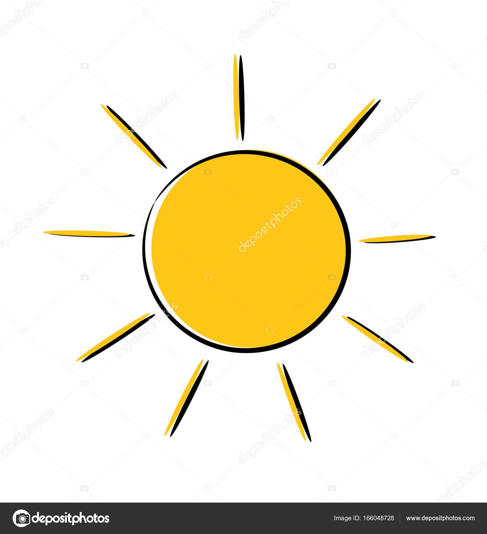 Ic ne soleil dessin image vectorielle studiobarcelona - Dessin soleil rigolo ...