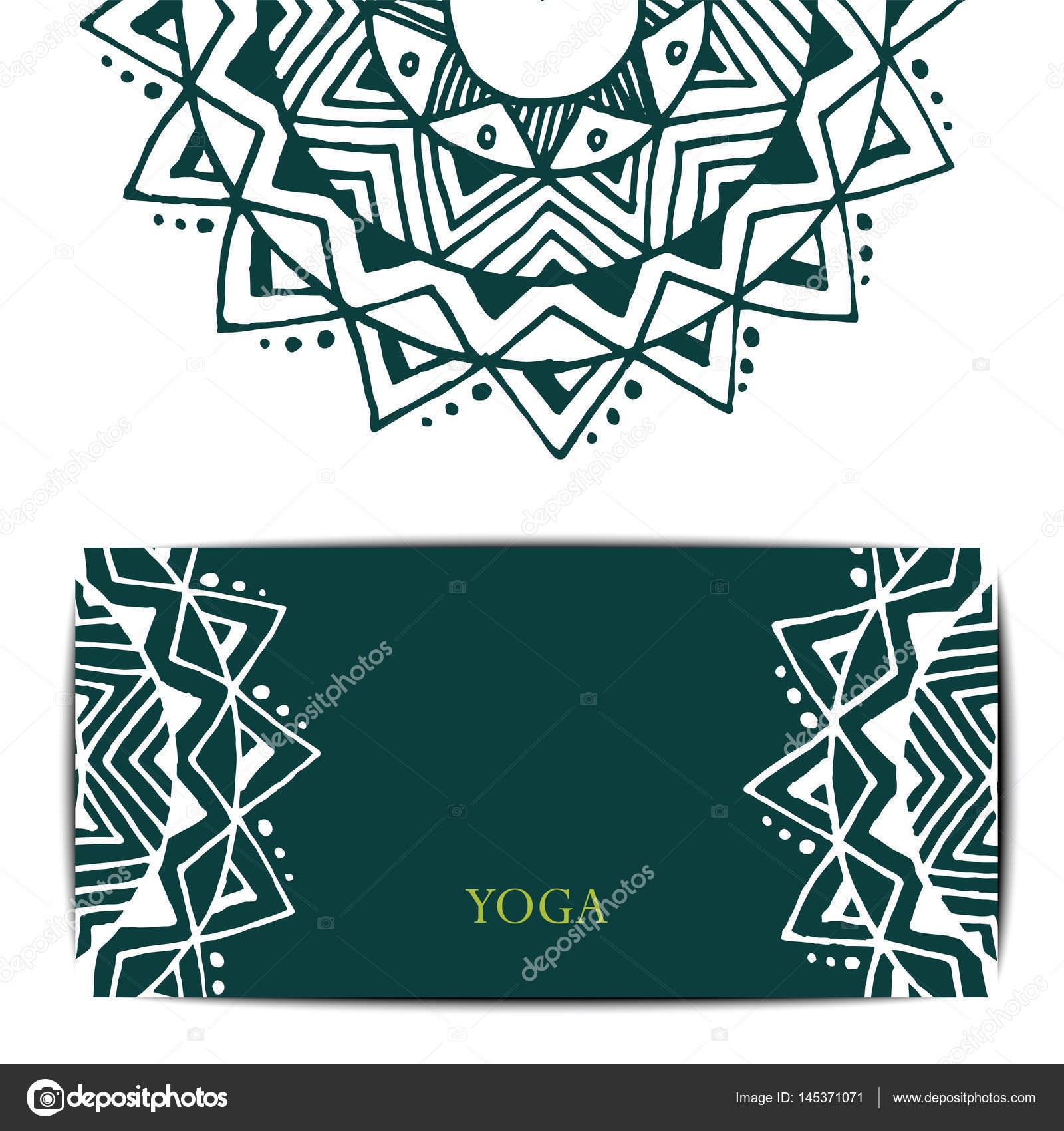 Plantilla de tarjeta de regalo de estudio de yoga — Vector de stock ...