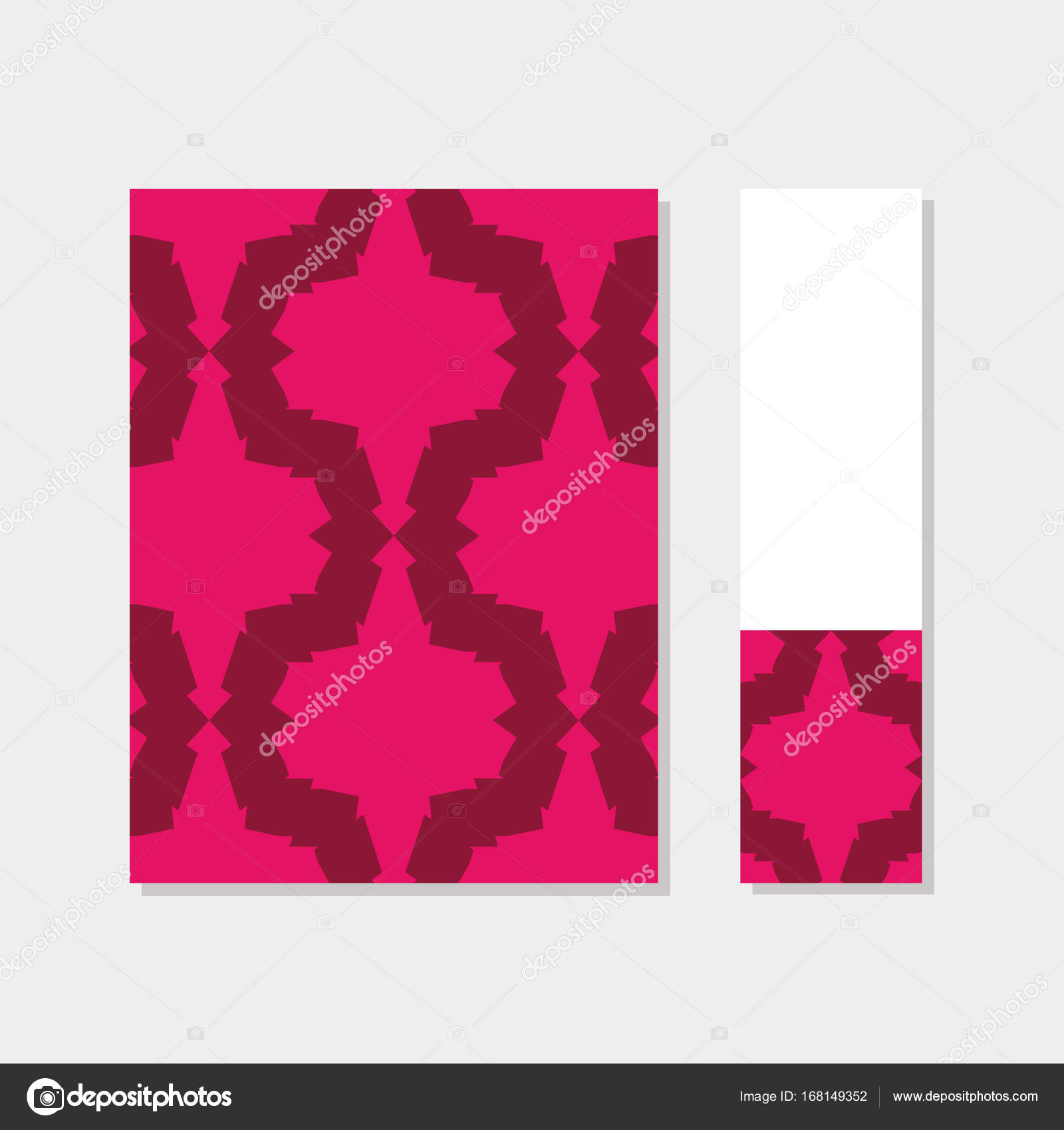 Abdeckung und Lesezeichen im arabischen Stil — Stockvektor ...